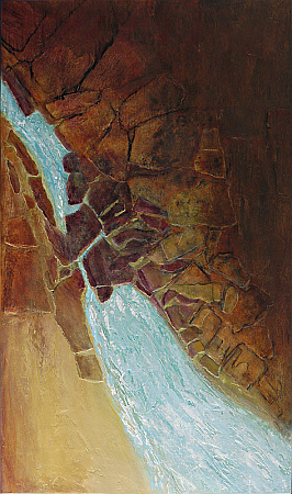 Painting titled Hillside Flume