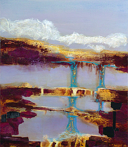 Painting titled Bridges to Ixlandia