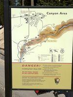 Canyon Area sign